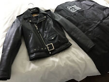 Schott 613 Leather Perfecto ONE STAR Jacket size 38 Biker Motorcycle