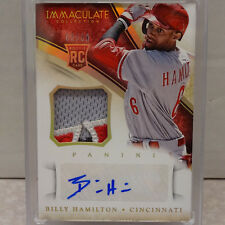 2014 Panini Immaculate Billy Hamilton Reds 4CLR Patch RC Auto #62/99