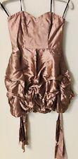 Forever New Women's Jojo Puff Ball Dress Size 10 Metallic Rose