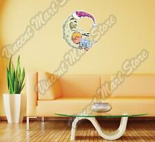 "Boy Sleeping Moon Bed Child Napping Wall Sticker Room Interior Decor 20""X25"""