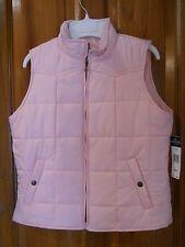 NWT Aspen Pink Petite Medium Chaps Quilted Vest $89.50