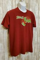American Apparel Space Jam T-Shirt Red Retro 90s Vintage Men's Size L