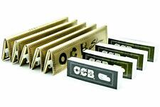 OCB Gold Premium King Size 5 Packs Slim Rolling Papers with 4 Booklets of OCB Ro