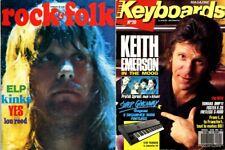 Lot ELP Emerson Lake Palmer : Rock & Folk 89 1974, Keyboards 20 1989  - RARE