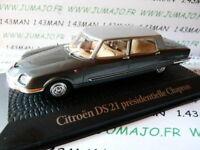 PR12M voiture1/43 norev présidentielle : CITROËN DS 21 chapron DEGAULLE 1969