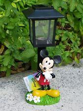 Authentic Disney Mickey Mouse Solar Lamp Post Garden Figurine Collectible *Rare*