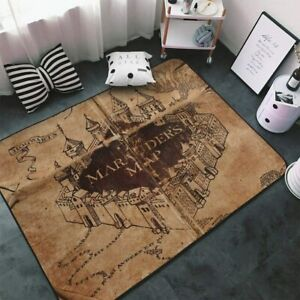 Harry Potter Marauders Map Rugs Large Shaggy Rug Mat Living Room Bedroom Carpet