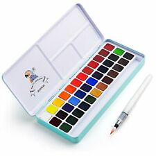 New ListingMeiLiang Watercolor Paint Set, 36 Vivid Colors in Pocket Box with Metal Ring