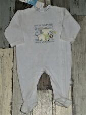 320d9305850e3 Pyjama en velours bleu brodé ABSORBA garçon 6 mois NEUF 💙 MAR63