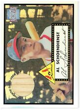 Red Schoendienst 2001 Topps Archives Reserve Rookie Reprint Relics Bat Card