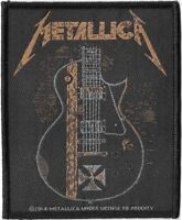 Official Licensed Merch Woven Sew-on PATCH Metal Rock METALLICA Hetfield Guitar