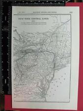 94 YEAR OLD 1922 SOUTHERN RAILROAD TWO PAGE SYSTEM MAP SOU RR DEPOT LOCATIONS