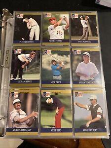 PGA Pro Set 1990 Set Golf Cards Arnold Palmer Jack Nicklaus