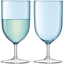 LSA International Hint Wine/Water Glass 400ml Pale Turquoise x2
