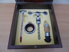 French red wine Sommelier presentation set, Credit Mutuel, stopper, corkscrew