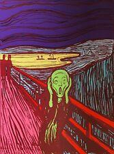 "ANDY WARHOL ""MUNCH THE SCREAM"" Limited Ed SUNDAY B.MORNING Silkscreen Print COA"