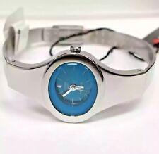 CITIZEN Ladies Classic Silver Tone SS Blue Dial Dress Watch EJ4350-55L VINTAGE