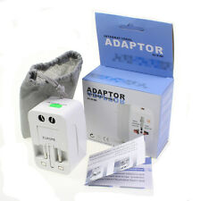 US to EU Europe UK AU and Universal AC Power Plug World Travel Adapter Converter