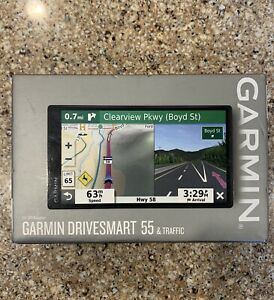 "Garmin Drivesmart 55 & Traffic 5.5"" GPS Navigator - BRAND NEW 010-02037-02"