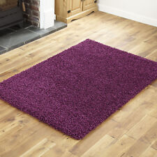 Thick Shaggy Rug Aubergine Purple Size - 120 X 170cm Soft 5cm High Quality Pile