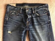 Men's Abercrombie & Fitch Distressed Destroyed Slim Skinny Jeans 32 X 34