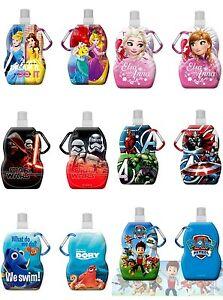 faltbare Trinkflasche Eiskönigin Avengers Prinzessin Star Wars Dorie PAW Patrol