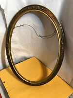 "Vintage Decorative Art Deco Oval Floral Frame Fits 11 1/2 by 16"" Painting"