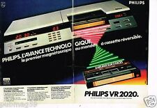 Publicité advertising 1981 (2 pages) Magnetoscope VR 2020 Philips