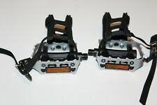 Wellgo Alloy   Bicycle Pedal Set With Non Slip Toe Clip
