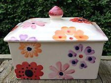 Emma Bridgewater RARO. Flower Power. burro BACINELLA. Hippy fiori spongeware