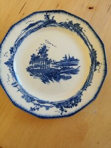 Royal Doulton Blue and White Decorative Tea Side Plate depicting Norfolk