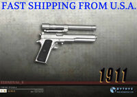 1/6 Scale M1911 Silver Pistol Gun Rifle Military PHICEN DiD BBI Figure Toy ❶USA❶