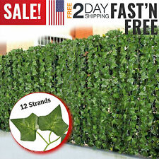 12 Artificial Fake Plant Wall Hanging Ivy Vine Garland Flowers Leaves Home Decor