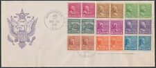 "#839-847 JOINT LINE PAIRS (EXCEPT ""1 1/2"") ON FDC CACHET COVERS1939 BS425"
