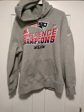 Men's Size XL Nike New England Patriots SuperBowl XLIX Hooded Sweater! Sku#38