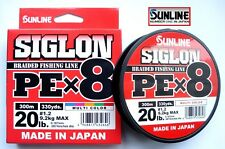 Sunline SIGLON Braided Ligne X8 300m P.e 1.2 20lb Multi Color (2646)