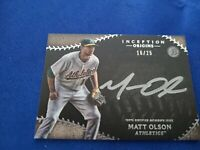 Matt Olson Auto 2015 Bowman Inception Origins 16/25 OA-MO RC Prospect  Athletics