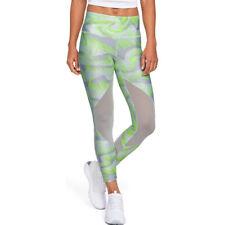 Under Armour UA HeatGear Ladies Printed Mesh Ankle Crop Sports Training Tights S