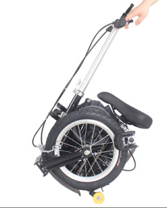 "14"" Electric Folding Bicycle Bike Mini Foldable Bike - Black nx"