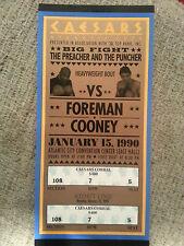 George Foreman vs Gerry Cooney Original Full Fight Ticket Huge Size Near Mint +
