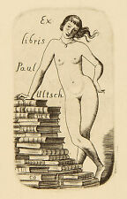 Cyril Bouda: Frauenakt. Exlibris für Paul Ultsch