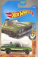 2017 Hot Wheels #333 Muscle Mania 4/10 '68 EL CAMINO Green w/Black St8 Spoke Whl