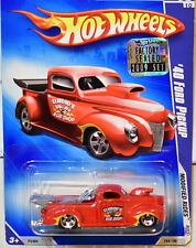 HOT WHEELS 2009 MODIFIED RIDES '40 FORD PICKUP #08/10 RED FACTORY SEALED