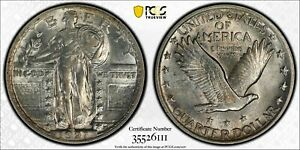 1921 STANDING LIBERTY QUARTER 25C PCGS & CAC AU 58 ABOUT UNCIRCULATED (111)
