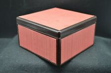 MCM Modern Mans Jewelry Box-Square, Top Lift Out Tray-MARUSEI Made in Japan