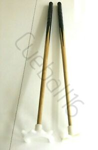 """2 x 36"""" 1 PIECE POOL or SNOOKER CUES With NYLON CROSS & BRIDGE RESTS For TABLES"""