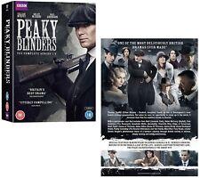 PEAKY BLINDERS 1-4 (2013-2017): COMPLETE Gangster TV Season Series R2 DVD not US