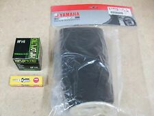 NEW YAMAHA GRIZZLY YFM 600 YFM600 TUNE UP KIT SPARK PLUG + OIL + OEM AIR FILTER