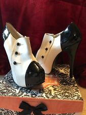 BRAND NEW Seductive Bordello Black and White Heels Size 11