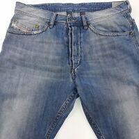 Diesel BRADDOM Mens Jeans W33 L28 Blue Slim Fit Straight High Rise